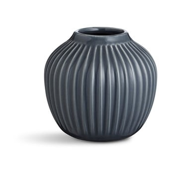 Vazădin gresie Kähler Design Hammershoi, mică, antracit, înălțime 12,5 cm bonami.ro
