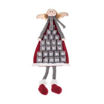 Calendar advent textil suspendat Dakls, lungime 110 cm, formă înger bonami.ro