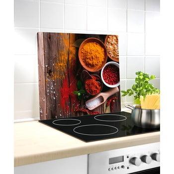Protecție din sticlă pentru aragaz Wenko Spice, 50 x 56 cm poza bonami.ro