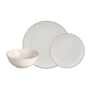 Set 12 piese de veselă din gresie ceramică Mason Cash Classic Collection, crem-alb poza bonami.ro