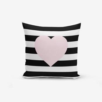Față de pernă cu amestec de bumbac Minimalist Cushion Covers Striped Pink,45x45cm bonami.ro