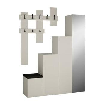 Set dulap și cuier de perete Homitis Up, alb poza bonami.ro