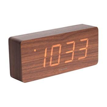 Ceas alarmă cu aspect din lemn Karlsson Cube, 21 x 9 cm bonami.ro
