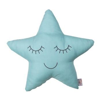 Pernă din amestec de bumbac pentru copii Mike&Co.NEWYORK Pillow Toy Star, 35 x 35 cm, turcoaz poza bonami.ro