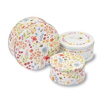Set 3 cutii metalice pentru fursecuri Cooksmart ® Bee Happy poza bonami.ro