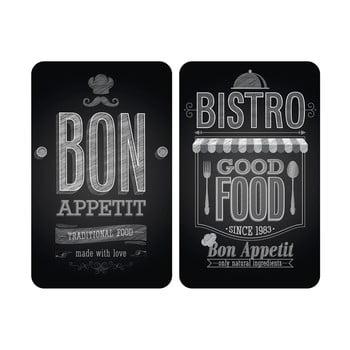 Set 2 protecții din sticlă pentru aragaz Wenko Bon Appetit,52x30cm poza bonami.ro