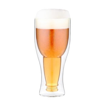 Pahar pentru bere cu perete dublu Vialli Design, 350 ml bonami.ro