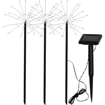 Set 3 lampadare solare pentru exterior Best Season Firework poza bonami.ro