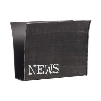 Suport metalic pentru reviste LABEL51, negru bonami.ro