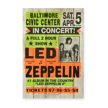 Tablou din lemn de pin Really Nice Things Led Zeppeling, 60x40cm bonami.ro