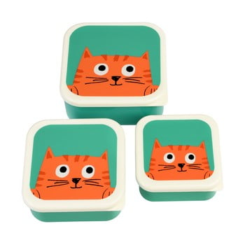 Set 3 cutii pentru gustări Rex London Chester Cat poza bonami.ro