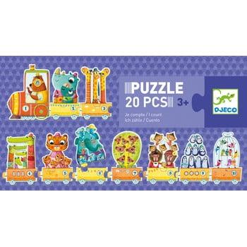 Puzzle pentru copii Djeco Trio Aritmetician poza bonami.ro