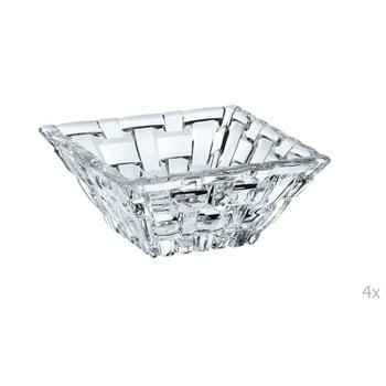 Set 4 boluri pătrate din cristal pentru sosuri Nachtmann Bossa Nova, 8,5 x 8,5 cm bonami.ro