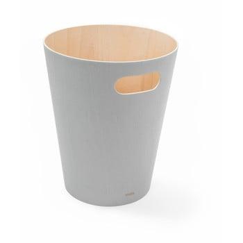 Coș de gunoi Umbra Woodrow, 7,5 l, gri deschis poza bonami.ro