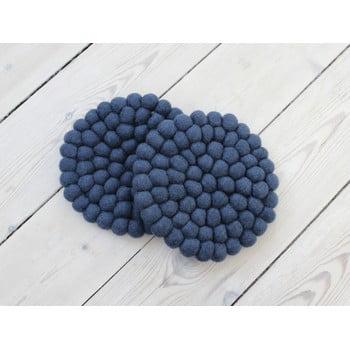 Suport pahar cu bile din lână Wooldot Ball Coaster, ⌀ 20 cm, albastru închis bonami.ro