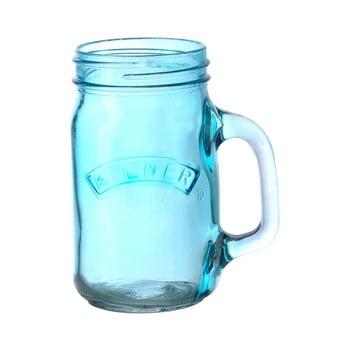 Borcan cu mâner Kilner 350 ml, albastru bonami.ro