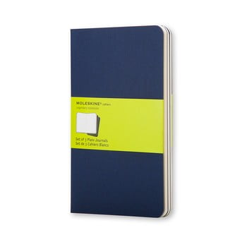 Set 3 caiete Moleskine, 64 pag., albastru închis bonami.ro