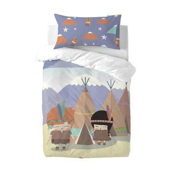Lenjerie de pat din amestec de bumbac pentru copii Happynois Indian Night, 120x100cm bonami.ro