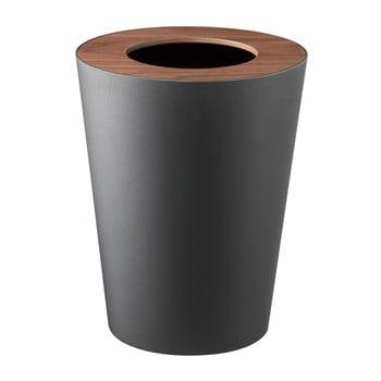 Coș de gunoi YAMAZAKI Rin Round, negru bonami.ro