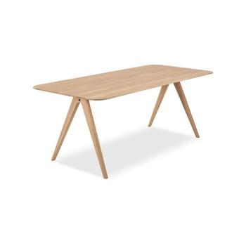 Masă din lemn de stejar Gazzda Ava, 200 x 90 cm imagine
