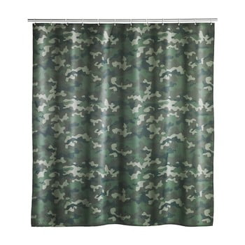 Perdea de baie lavabilă Wenko Camouflage, 180x200cm bonami.ro
