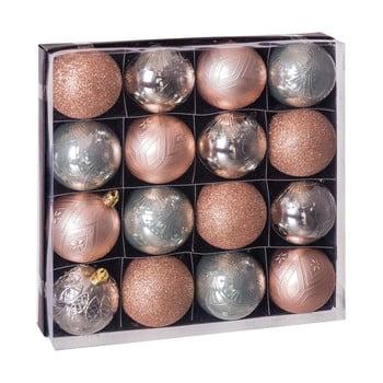 Set 16 decorațiuni de Crăciun Unimasa Copper, bej - argintiu bonami.ro