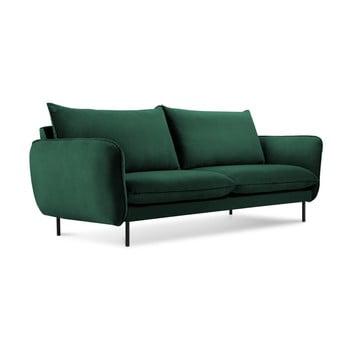 Canapea țesătură catifea Cosmopolitan Design Vienna, 160 cm, verde imagine