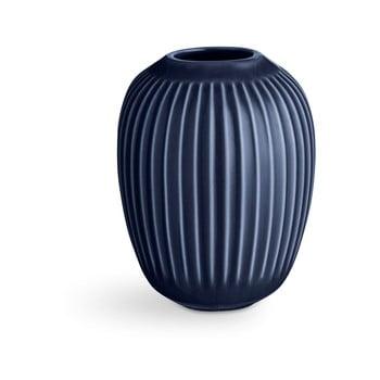 Vază din gresie Kähler Design Hammershoi,înălțime 10 cm, albastru închis poza bonami.ro