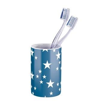 Suport pentru periuțe de dinți Wenko Stella Blue, alb albastru poza bonami.ro