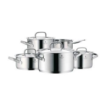 Set 5 oale din oțel inoxidabil cu capac WMF Cromargan® Gourmet Plus poza bonami.ro