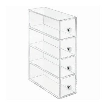 Cutie depozitare transparentă cu 4 sertare iDesign Tower bonami.ro