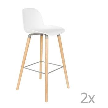 Set 2 scaune bar Zuiver Albert Kuip, înălțime scaun 75cm, alb bonami.ro