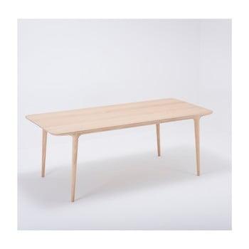 Masă dining din lemn masiv de stejar Gazzda Fawn, 200 x 90 cm imagine