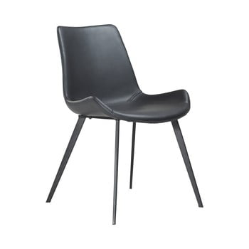 Scaun din piele ecologică DAN–FORM Denmark Hype , negru poza bonami.ro