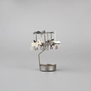 Decorațiune rotativă metalică cu reni Dakls, îngeri bonami.ro