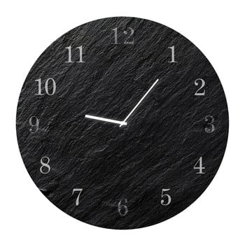 Ceas de perete Styler Glassclock Carbon, ⌀ 30 cm bonami.ro