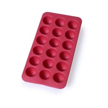 Formă din silicon pentru gheață Lékué Round, 18 cuburi, roșu poza bonami.ro