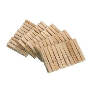 Set 50 cârlige din lemn pentru rufe Wenko Pegs bonami.ro