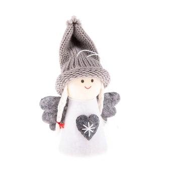 Decorațiune textilă suspendată Dakls, lungime 9 cm, alb, înger bonami.ro