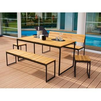 Set mobilier dining de grădină din lemn de salcâm și structură din metal Ezeis Brick imagine