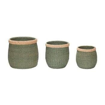 Set 3 coşuri depozitare din fibre de abaca Hübsch Eulalia bonami.ro