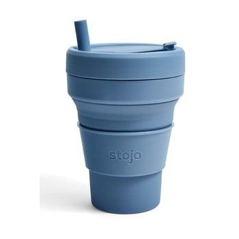 Cană pliabilă Stojo Titan Steel, 710 ml, albastru poza bonami.ro