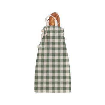 Sacoșă textilă pentru pâine Linen Couture Linen Bread Bag Green Vichy bonami.ro