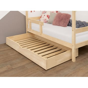 Sertar din lemn cu somieră pentru pat BenlemiBuddy, 70x140cm imagine