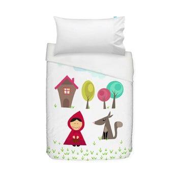 Husă pilotă și pernă din bumbac pentru copii Mr. Fox Grandma, 100 x 120 cm bonami.ro
