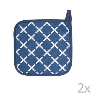 Set 2 șervete termice din bumbac Tiseco Home Studio Cross, albastru bonami.ro