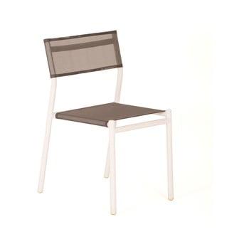 Set 4 scaune de grădină stivuibile Ezeis Tube, gri imagine