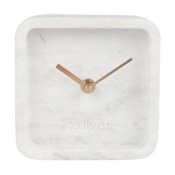 Ceas de perete din marmură Zuiver Luxury Time, alb bonami.ro