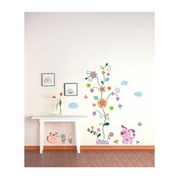 Autocolant Ambiance Colorful Animals and Tree poza bonami.ro