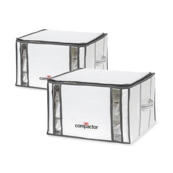 Set 2 cutii cu vid Compactor Life 3D Vacuum, 40 x 25 cm, alb bonami.ro